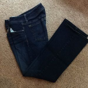Dark wash American Eagles Bootcut Jeans